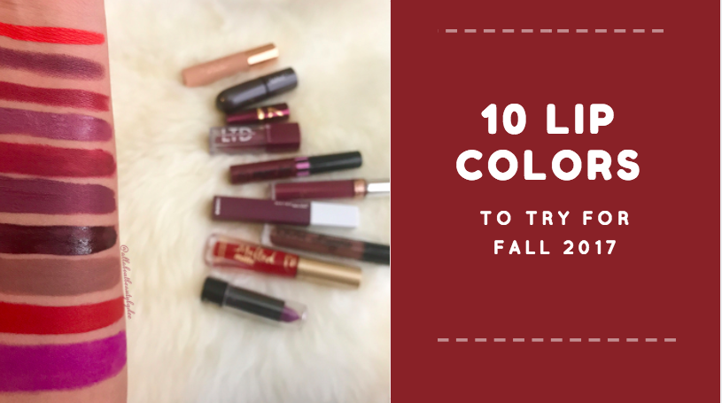 10 Lip Colors to try this Fall