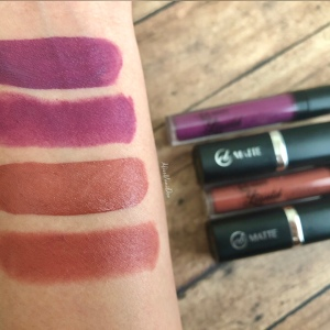 Ever Bilena EB Matte Swatches