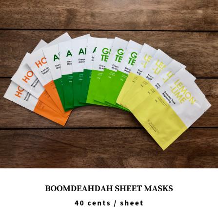 Althea Korea Haul - Boomdeahdah Sheet Mask