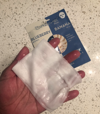 The Creme Shop Blueberry Banana Fusion Sheet Mask - Fresh from the package